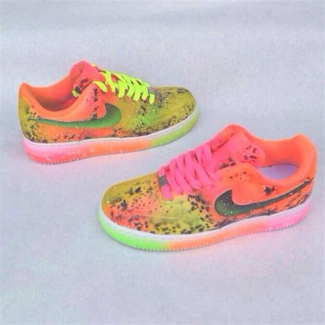 colorful air forces shoes nike air 1 colorful bright colors wheretoget