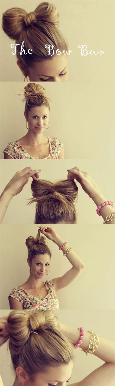 diy hairstyles bow diy hair bow bun tutorial gorgeous wedding hair 803705