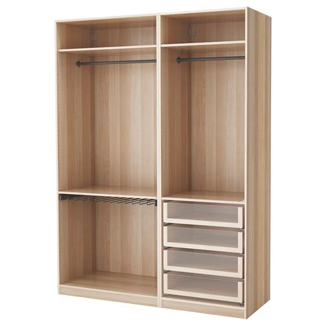 pax wardrobe white stained oak pax wardrobe white stained oak effect 175x58x236 cm ikea