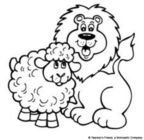 preschool coloring pages for march march lion and lamb printable to color or glue cotton