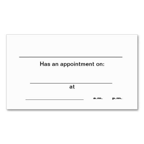 business card appointment template 238 best appointment business cards images on