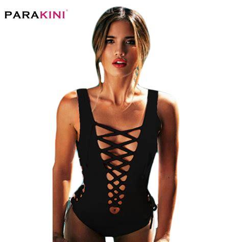 10 Stunning One Swimsuits by Parakini 2018 One Swimwear Retro Hollow Out Bandage