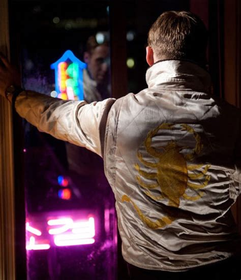 drive ryan gosling jacket who designed ryan gosling s scorpio white jacket from
