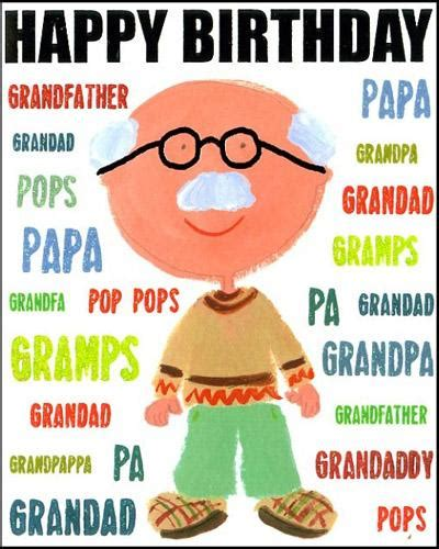 grandfather birthday card template happy birthday quotes quotesgram