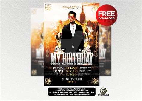 free psd birthday templates free birthday bash flyer template psd by grandelelo on
