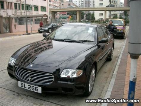 oto maserati quattroporte spotted in hong kong china