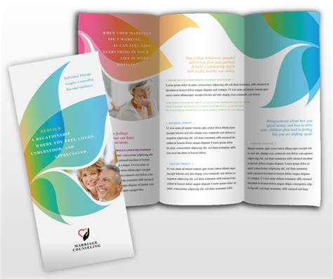 couples therapy marriage counseling tri fold brochure