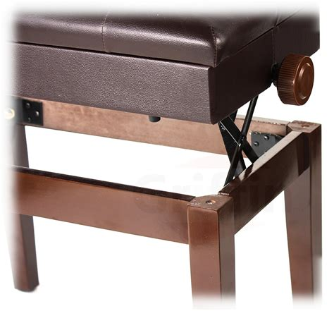 griffin piano bench adjustable piano brown leather bench by griffin vintage