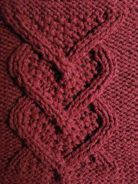 cable pattern knitting video knit this cable heart panel square 8 snugglebuggknits