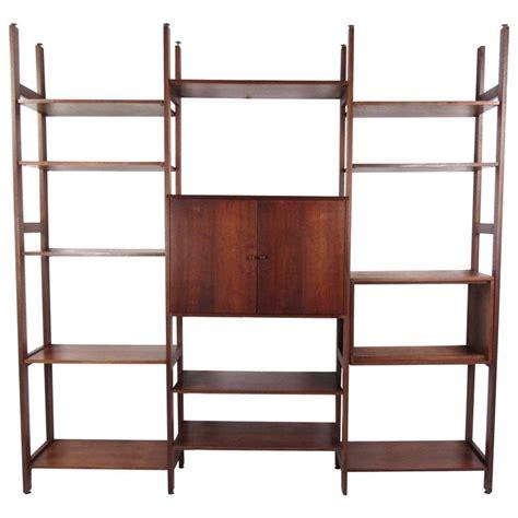 modern modular bookcase tall mid century modern freestanding modular bookshelf for