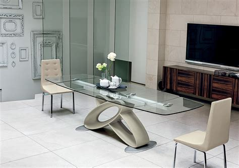 modern glass kitchen table contemporary kitchen expandable modern glass dining