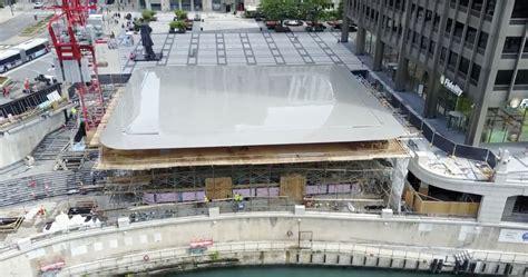 Garage Roof Design chicago s new apple store installs giant macbook roof