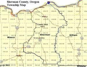 sherman map sherman county oregon