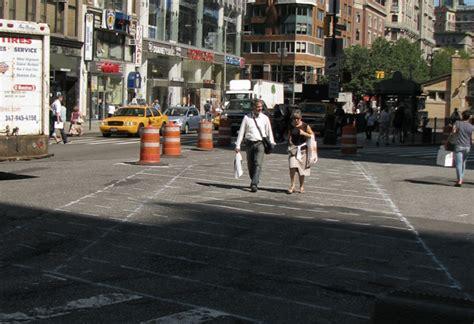 nacto streetsblog new york city bowtie of death ped safety improvements underway