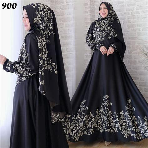 Syari Maxmara syari maxmara motif bunga c900 baju muslim modern