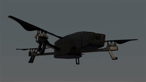 model drone with drone free 3d model obj fbx c4d cgtrader