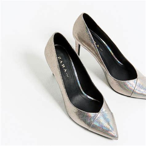 zara shiny high heel shoes lyst