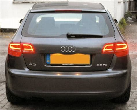 Audi A3 Led by Audi A3 8p Rear Led Lights Sportback 5dr Models Only
