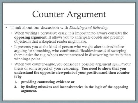 sle argumentative essay with counter argument sle argumentative essay with counter argument 28 images