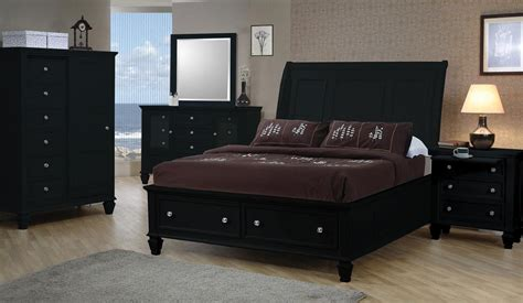 sandy beach bedroom collection sandy beach black sleigh storage bedroom set from coaster