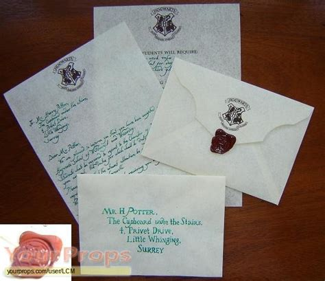 Acceptance Letter Lost In Mail Harry Potter Hogwarts Acceptance Letter Replica Prop