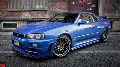 nissan r34 paul walker paul walker s nissan skyline gt r on the market for 1 35
