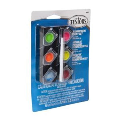 testors 0 10 oz 6 color acrylic paint pod set fluorescent colors 4 pack 9002 the home depot