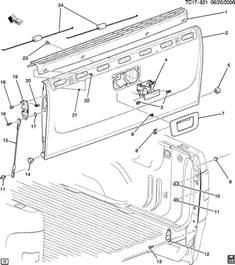 2007 silverado tailgate diagram autos post