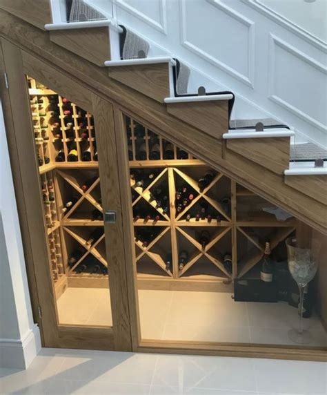 wine storage under stairs best idea ever wine cellar under the stairs home