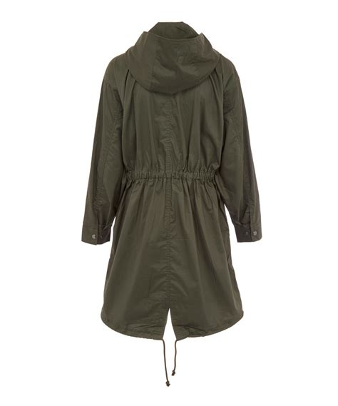 Hooded Cotton Parka atm green hooded cotton parka jacket in green lyst