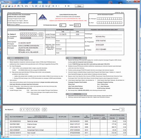 payroll report sle ea form malaysia sle standard reports in actpay payroll actpay
