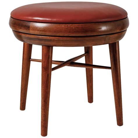 leather swivel bar stools at 1stdibs leather and walnut swivel stool usa 1950s at 1stdibs