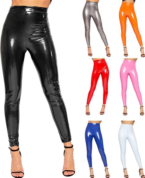 Shiny Review A Look At Windows Vista by Womens Look Shiny Vinyl High Waisted Elasticated