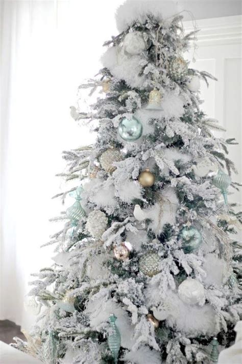 white fluffy christmas trees 33 chic white tree decor ideas digsdigs