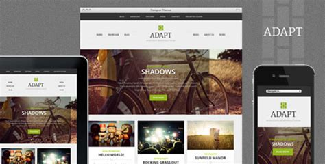 theme forest template adapt a responsive themeforest theme