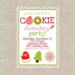 Christmas Cookie Decorating Party Invitations » Home Design 2017