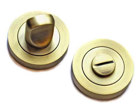 bathroom door turn knob matt antique brass finish brass