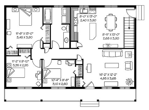 efficient house plans cost efficient cottage safccw01457 country house plan