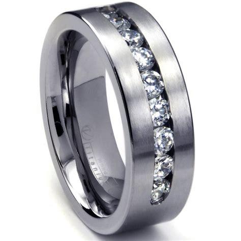 mens white gold rings wedding promise diamond