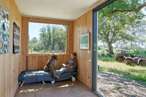 shipping container cabin grid shipping container cabin has a warm wooden interior inhabitat green design