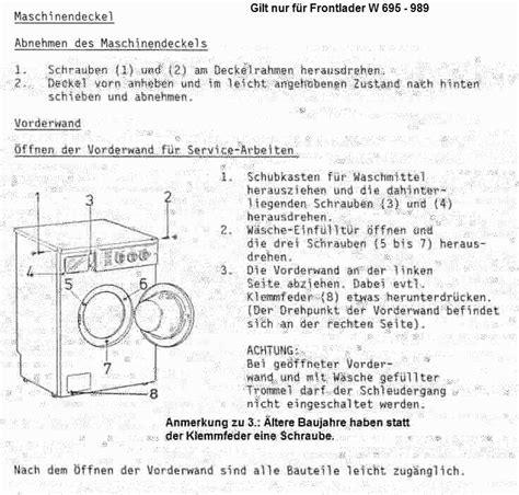 Schlechte Gerüche In Der Waschmaschine 5480 miele t440c pumpe pumpt schlecht elektronik reparatur forum