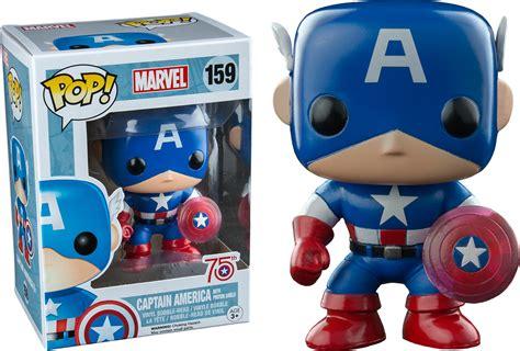 Original Funko Pop Marvel Captain America With Photon Shield 159 marvel 75th anniversary funko pop captain america with