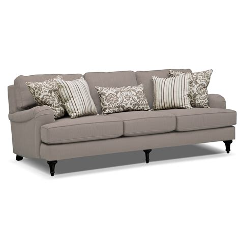 sofa couch candice sofa gray value city furniture