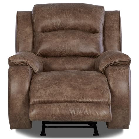 lumbar support recliners klaussner reuben power recliner with power headrest and