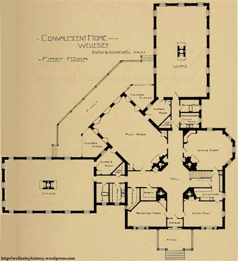 Wellesley College Floor Plans by The Convalescent Home Wellesley History
