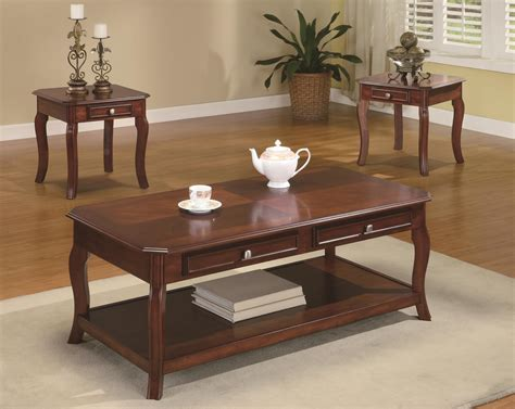 cafe 3 piece occasional set coaster occasional sets 701508 traditional 3 piece