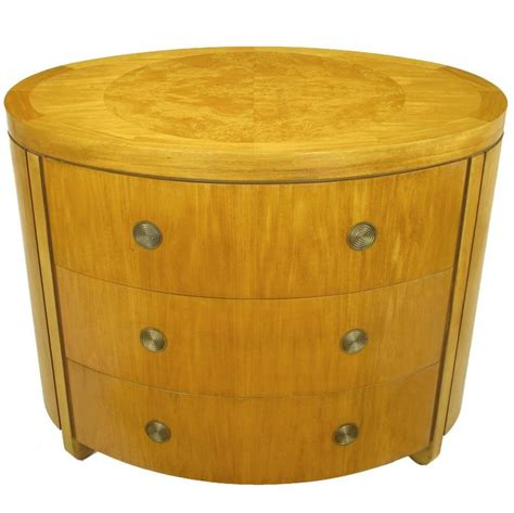 kommode oval charles pfister for baker prima vera mahogany three drawer