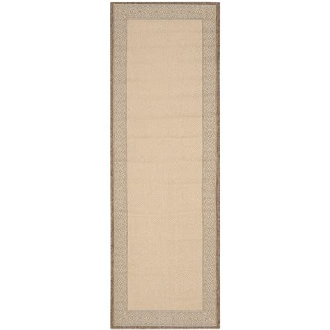 safavieh cy2099 3001 courtyard indoor outdoor area rug beige lowe s canada safavieh courtyard brown 2 ft 3 in x 10 ft indoor outdoor runner cy2099 3001 210