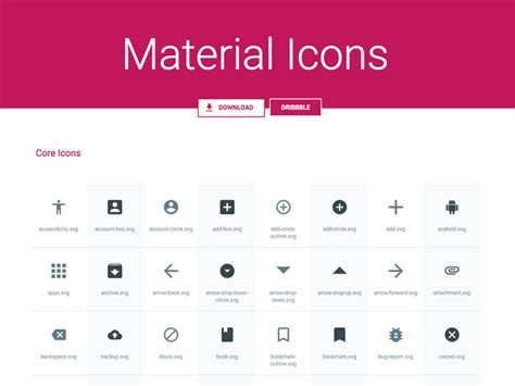 material design icon refresh svg sketch material icons pack by benjamin schmidt