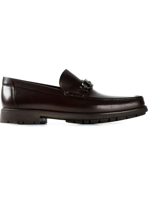 salvatore ferragamo master loafer ferragamo master loafers in brown for lyst
